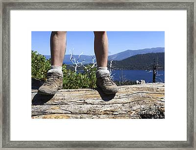 Hikers Legs And Boots  Framed Print by Gal Eitan
