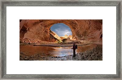 Hiking Coyote Gulch Framed Print by Leland D Howard