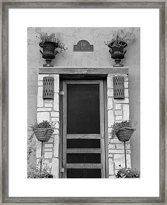Hill Country Hacienda Bw Framed Print by Elizabeth Sullivan