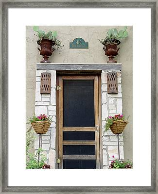 Hill Country Hacienda Framed Print by Elizabeth Sullivan