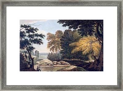 Hill Village In The District Of Bauhelepoor Framed Print by William Hodges