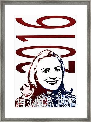 Hillary 2016 Framed Print by Jost Houk