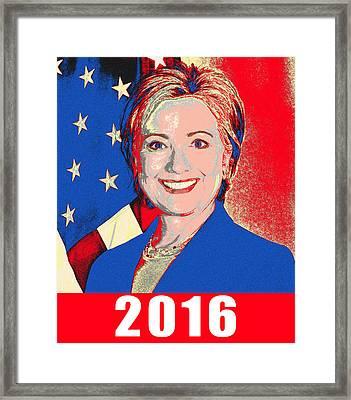 Hillary 2016 Framed Print by Scarebaby Design