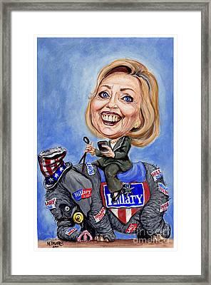 Hillary Clinton 2016 Framed Print by Mark Tavares