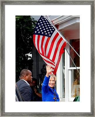 Hillary Clinton Framed Print by Ed Weidman