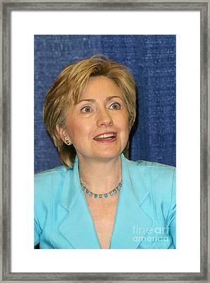 Hillary Clinton Framed Print by Nina Prommer