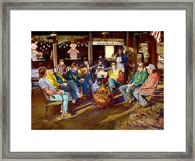 Hillbilly Happy Hour Framed Print by Anne Goetze