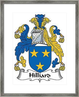Hilliard Coat Of Arms Irish Framed Print by Heraldry
