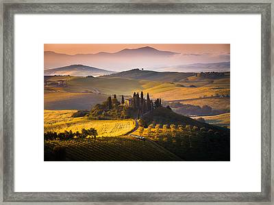 Hills And Houses Framed Print by Stefano Termanini