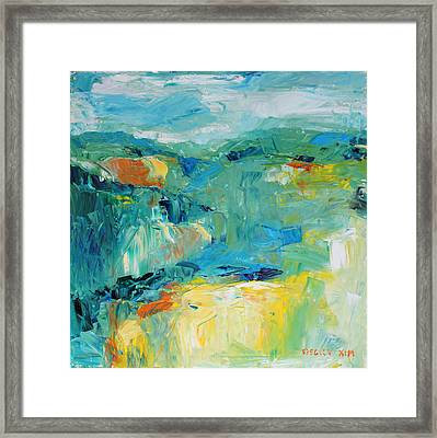 Hills In Dream 1 Framed Print by Becky Kim