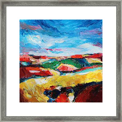 Hills In Dream 2 Framed Print by Becky Kim