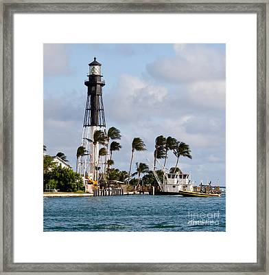 Hillsboro Inlet Lighthouse Framed Print by Michelle Wiarda
