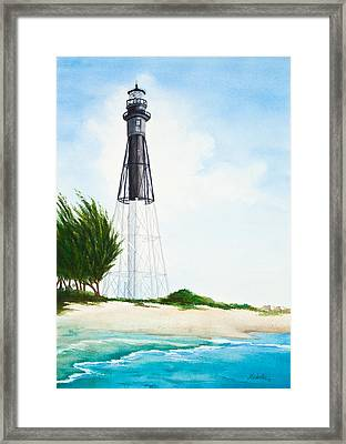 Hillsboro Point Inlet Florida Lighthouse Framed Print by Michelle Wiarda