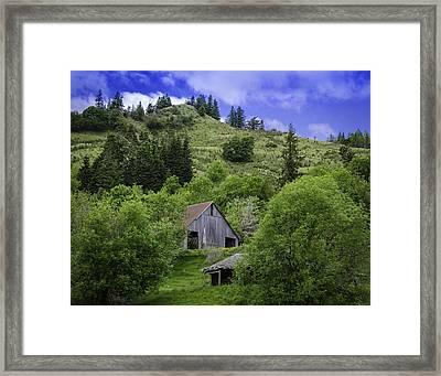 Hillside Barn Framed Print by Chris Malone