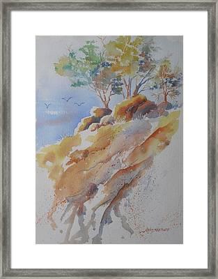 Hillside Rocks Framed Print by John  Svenson