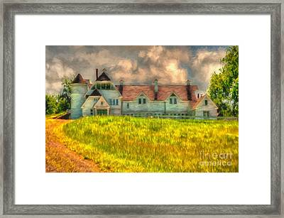 Hilltop Farm Framed Print by Lois Bryan