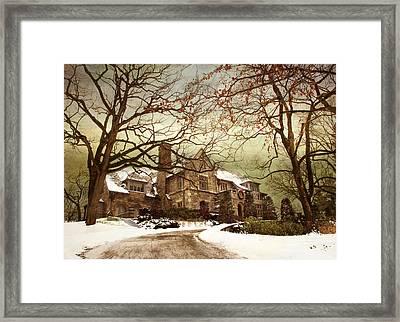 Hilltop Holiday Home Framed Print by Jessica Jenney