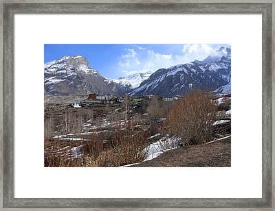 Himalayan Town Of Muktinath Framed Print by Aidan Moran