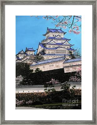 Himeji Castle Framed Print by D L Gerring