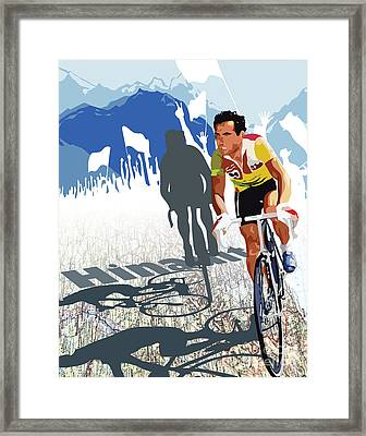 Hinault Map Print Framed Print by Sassan Filsoof