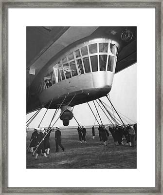 Hindenburg Control Room Framed Print by Underwood Archives