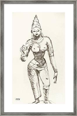 Hindu Goddess Sivakami Framed Print by Art By - Ti   Tolpo Bader