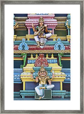 Hindu Temple Deity Statues Framed Print by Tim Gainey