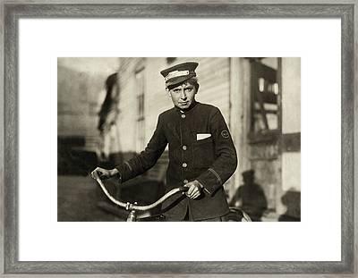 Hine Messenger, 1913 Framed Print by Granger