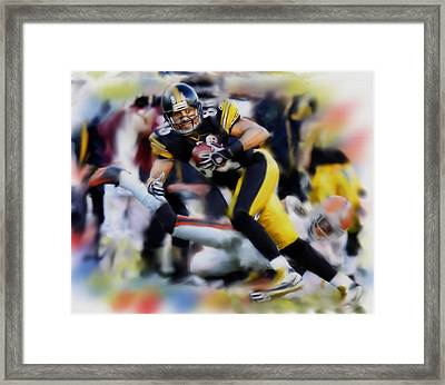 Hines Ward  Framed Print by Dwayne  Graham