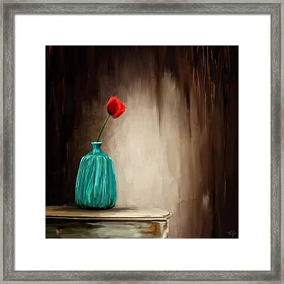 Hint Of Passion Framed Print by Lourry Legarde
