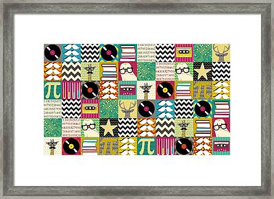 Hip Hip Geek Framed Print by Sharon Turner