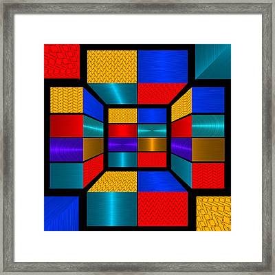 Hip To Be Square - For Metallic Paper Framed Print by Wendy J St Christopher
