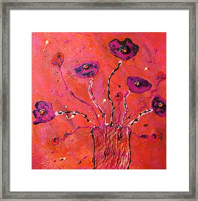 Hippie Poppies  Framed Print by Victoria  Johns