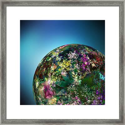 Hippies' Planet 2 Framed Print by Klara Acel
