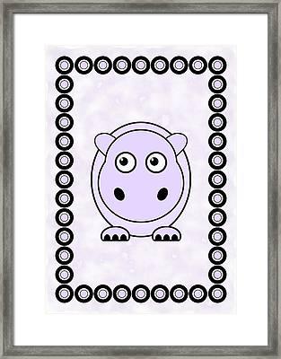 Hippo - Animals - Art For Kids Framed Print by Anastasiya Malakhova