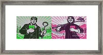 His And Hers Cultural Revolution Framed Print by Andy Prendy