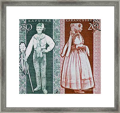 His And Hers Traditional Costumes Framed Print by Andy Prendy