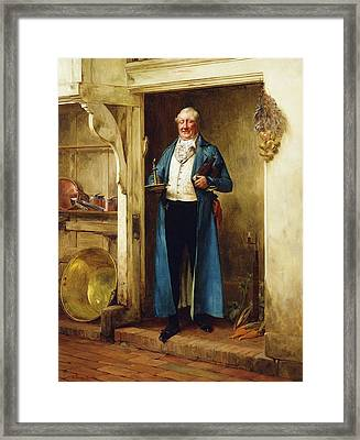 His Favourite Bin; And Testing Framed Print by Walter Dendy Sadler