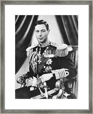 His Majesty King George Vi Framed Print by Underwood Archives