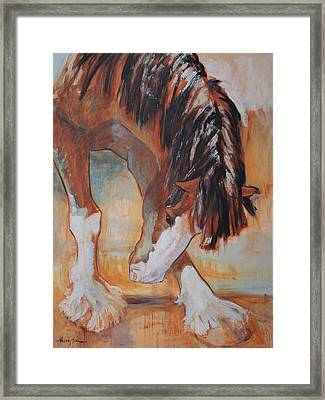 His Majesty's Nose Itches Framed Print by Tracie Thompson
