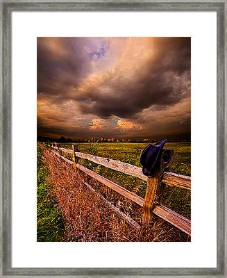 His Thoughts Were His Only Companions Framed Print by Phil Koch