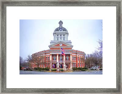 Historic Morgan County Court House Morgan County Georgia Framed Print by Reid Callaway