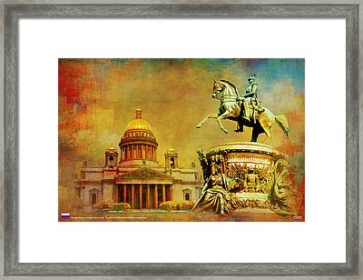 Historic Center Of Saint Petersburg Framed Print by Catf