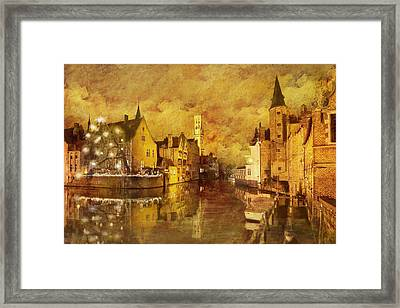 Historic Centre Of Brugge Framed Print by Catf