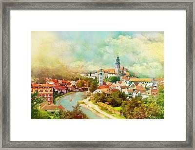 Historic Centre Of Cesky Krumlov Framed Print by Catf