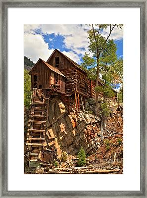 Historic Crystal Mill Framed Print by Adam Jewell
