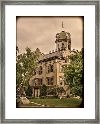 Historic Fergus County Courthouse Framed Print by Thomas Young