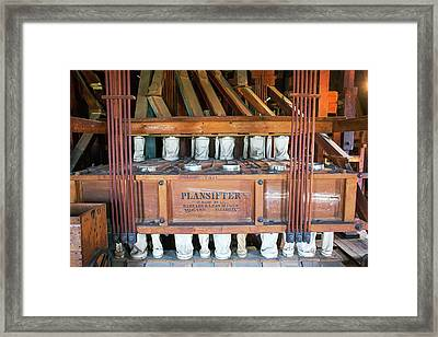 Historic Flour Mill Sifter Framed Print by Jim West