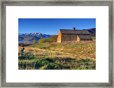 Historic Francis Tate Barn - Wasatch Mountains Framed Print by Gary Whitton