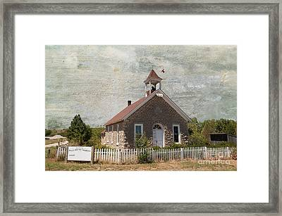 Historic Hinerville School  House  Framed Print by Liane Wright